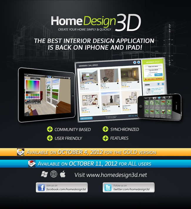 home design 3d available soon on iphone and ipad - Home Design 3d Gold